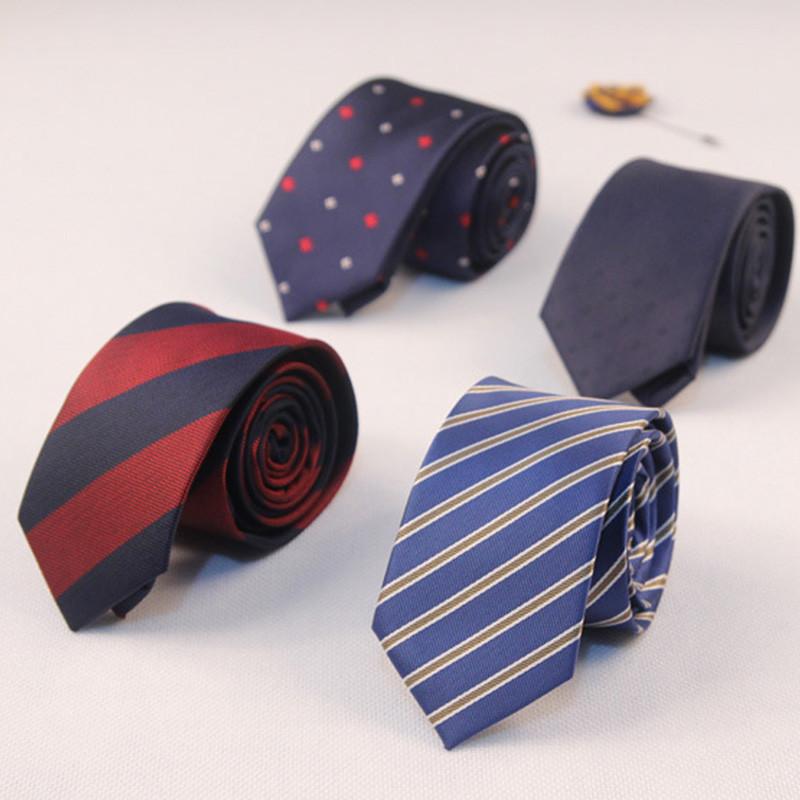 Mantieqingway Polyester Silk Tie Skinny Necktie Classic Designer Stripe Printed Ties For Mens Wedding Suit Slim Necktie Cravat