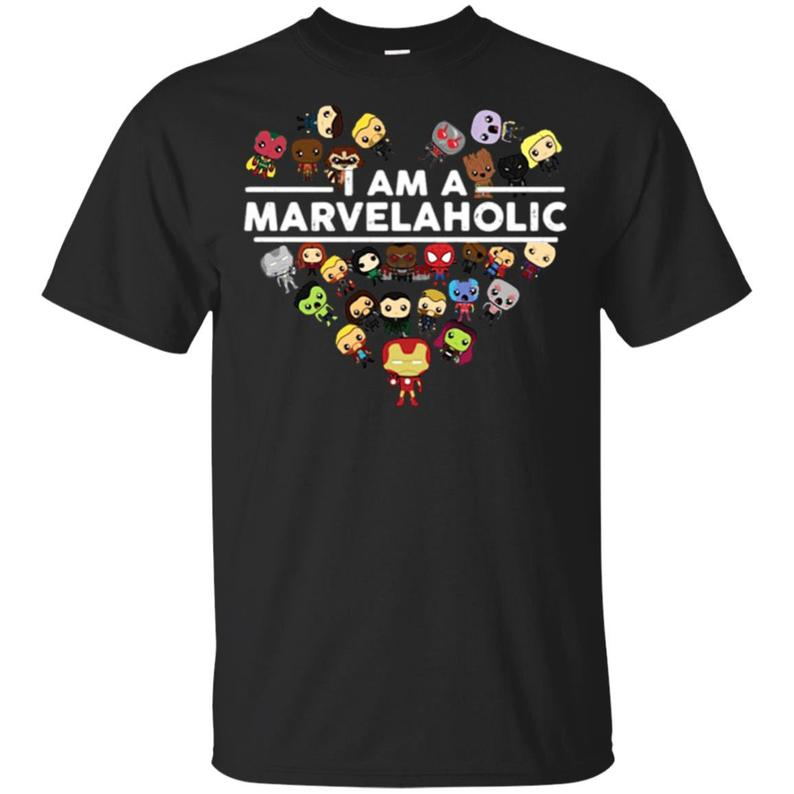 I am a Marvelaholic   T     Shirt   Cotton Casual Top Tees