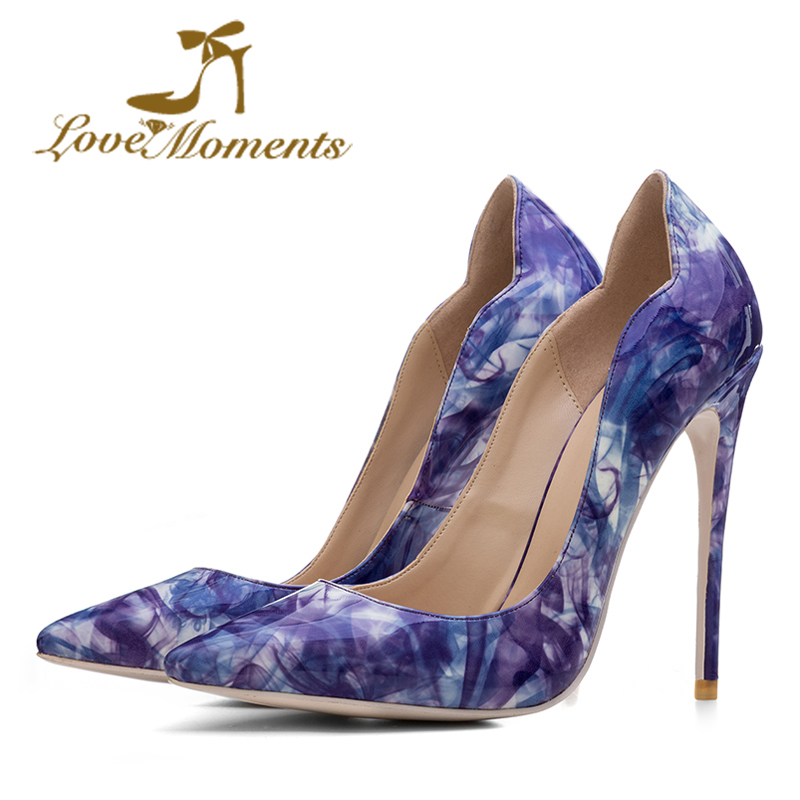 Love Moments high-quality shoes woman High Heels 12cm party dress Wedding Bridal Shoes Pointed Toe Sexy women shoes  Stilettos цены онлайн