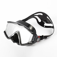 Adult Diving Training Masks Anti fog HD Tempered Glass Snorkeling Swimming Mask three lens big view