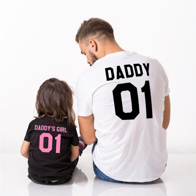 daddy daughter family matching clothes summer father and daughter son t shirt matching 01 daddy. Black Bedroom Furniture Sets. Home Design Ideas