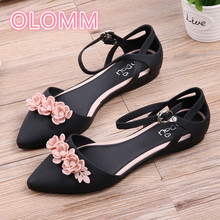 2019 new female sandals Xia Han version of flat bottom bag head waterproof Anti-Slip tip jelly shoes
