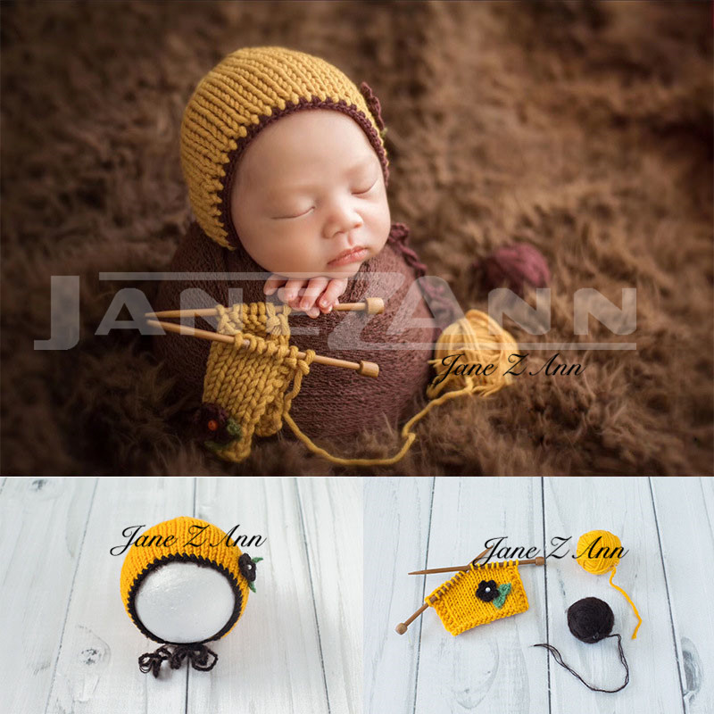 Jane Z Anncrochet Baby White Hammock Photography Props Knitted Newborn Infant Costume Photo Props Fotografia Accessories With Traditional Methods Hats & Caps