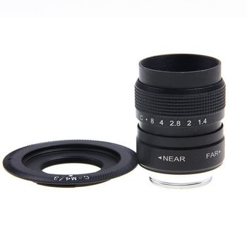 Fujian 25mm F1.4 CCTV lente de TV + C montaje para Micro 4/3 m4/3 Olympus OM-D EP1/II EP2 EP3 EP6 E-PL6/E-PL7/E-PL8 EP3 E-M5/II E-M10/II