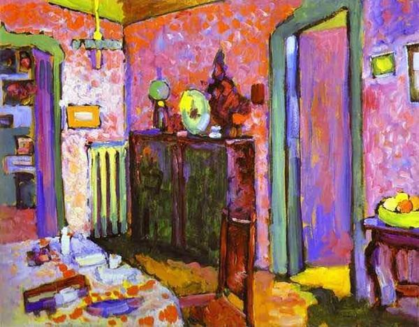 My Dining Room 1909 Wassily Kandinsky 100% Hand Painted Oil Painting Repro Museum Quality Gift