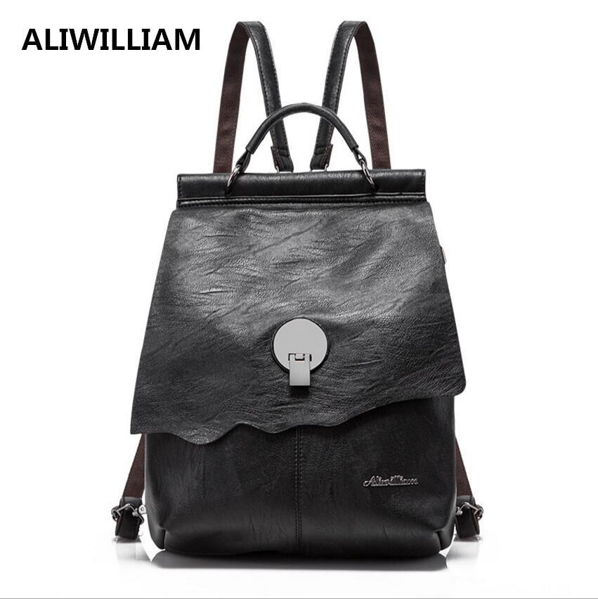 ALIWILLIAM Brand Ladies Shoulder Bag New Shoulder Bag Shoulder Bag Soft Leather Leisure Corrugated Ladies Hot