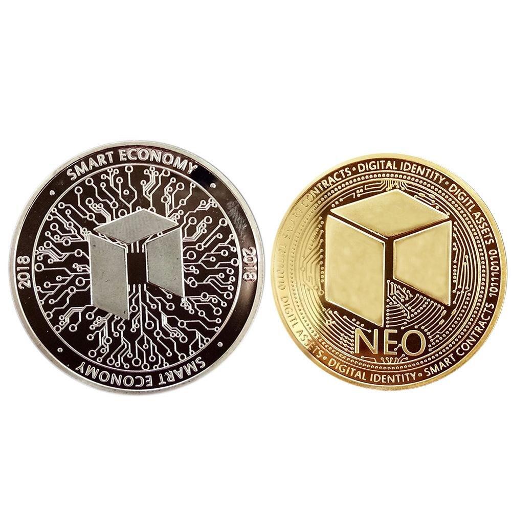 2pcs Alloy NEO Commemorative Coin Souvenir Coin Souvenir Collectable Gift+Case