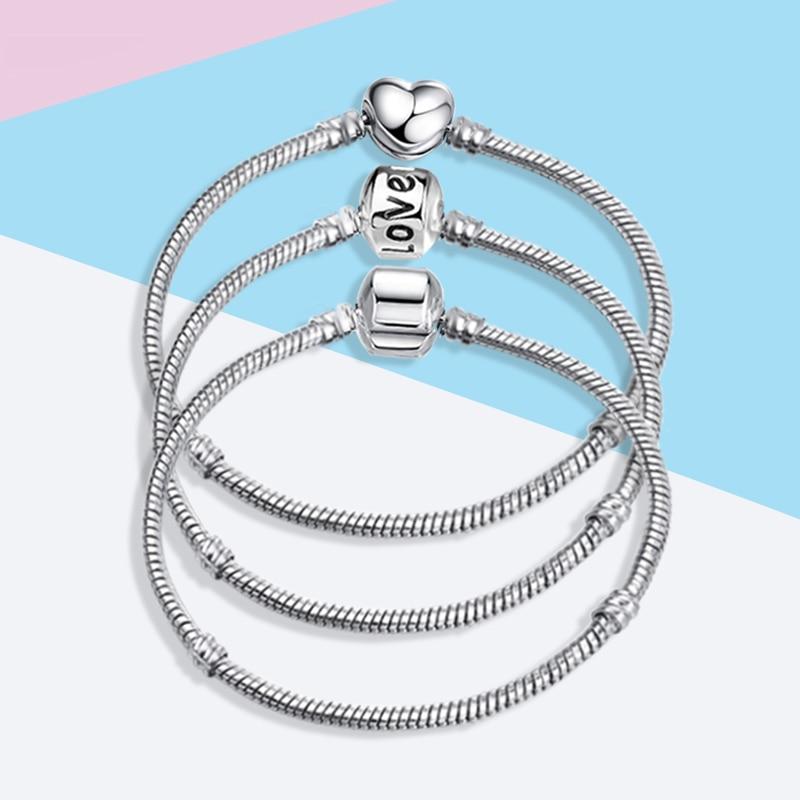 7b3c787c38a80 CUTEECO New High Quality Charm DIY Bracelet Multiple Styles Silver ...