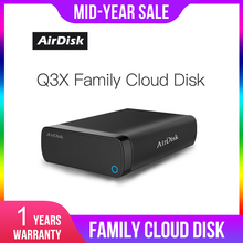 "Airdisk Q3X موبايل شبكة قرص صلب USB3.0 ناس الأسرة شبكة سحابة التخزين 3.5 ""عن بعد صندوق قرص صلب المحمول (وليس HDD)"