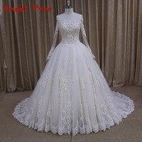 Custom Made Elegant Vestidos De Noiva Button Back Bride Dresses Vintage Wedding Dress 2017 The Most