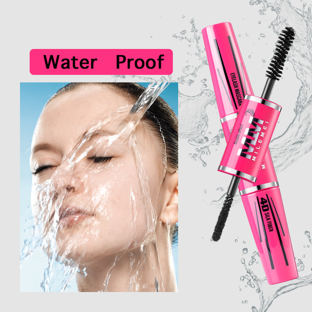 MILEMEI 4D Silk Fiber Eyelash Mascara Makeup Lengthening  Eye Lash Mascara Magic fiber Black Waterproof Eyelash Extension 4
