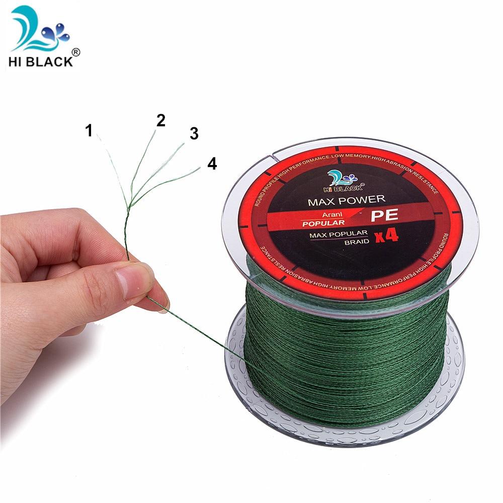 300 м 500 м 1000 м 4 нитки плетена волосінь - Риболовля - фото 4