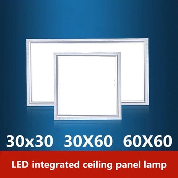 Square ultra thin flat LED Panel Light 300x300 300x600 600x600 LED Panel Light Industrial office Ceiling Lamp image