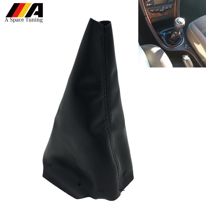Black PU Leather Car Interior Gear Shift Stick Gaiter Boot Dust Proof Cover