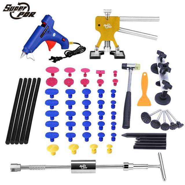 PDR Tools Car Paintless Dent Removal Tools High Quality Stainless Slide hammer Dent Puller Pulling Bridge glue gun hand tool kit