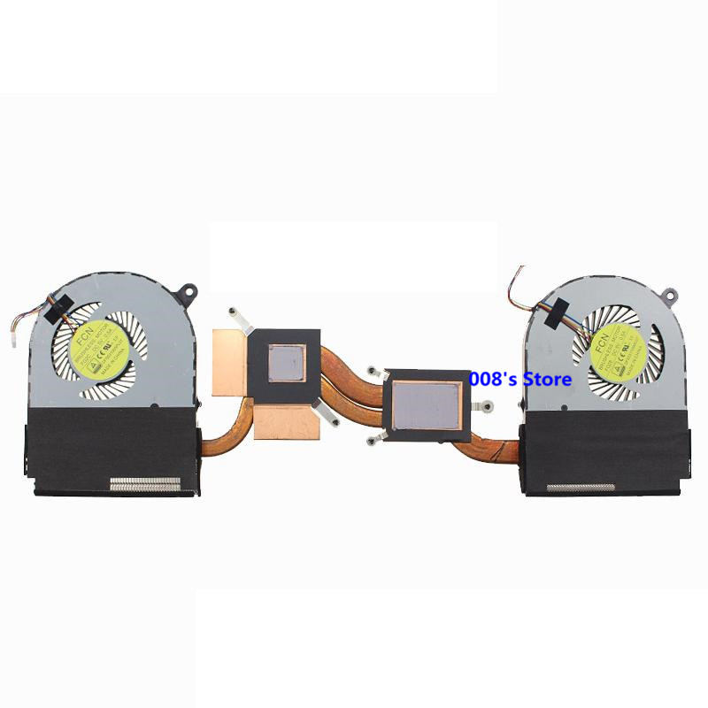 Новый вентилятор охлаждения ЦП/ГП для ноутбука, радиатор для Acer Aspire Nitro VN7-591 AB07505HX070B00 00H860, левая и правая, одна пара