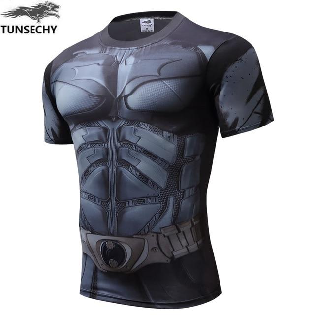 TUNSECHY Marvel comics superhero short sleeve T-shirt avengers 3D digital printing compressed round collar movement T-shirt