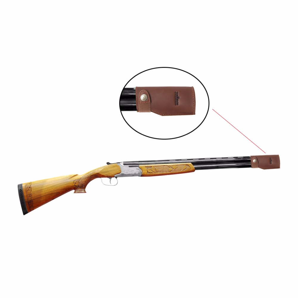 Tourbon Skeet//Trap Shooting Toe Protective Shoe Pad Clay Barrels Rest Leather