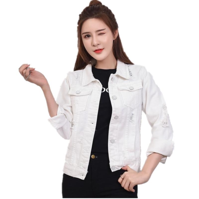 Women's Jeans Jackets Short Casual Denim Jacket Pocket ...
