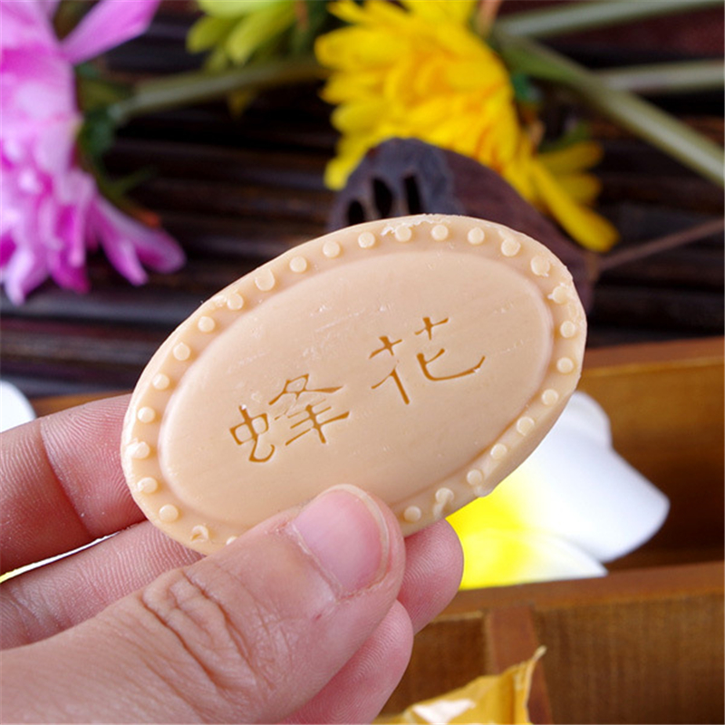 Jabones Para Regalar Bee And Flower Brand Chinese SandalWood Soap Hand Made Soap Oil Control Whitening Deep Cleaning Hand Face
