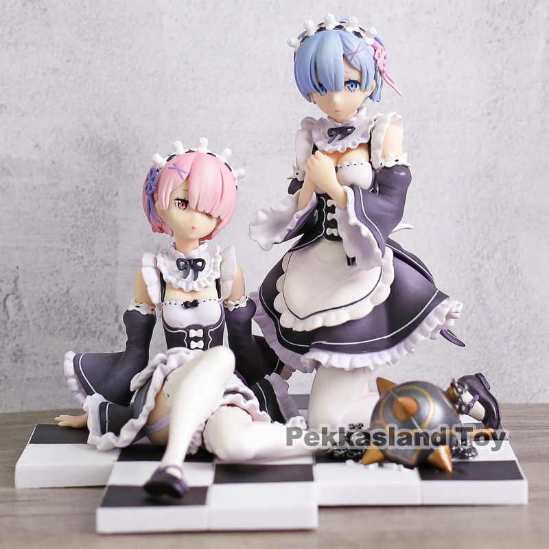 Anime Re Life in a different world from zero Rem /&Ram Pudding PVC Figure No Box