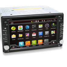 Universal 2 din Android 4.4 Coches reproductor de DVD GPS + Wifi + Bluetooth + Radio + Quad Core + DDR3 + Pantalla Táctil capacitiva + 3G + pc del coche + aduio