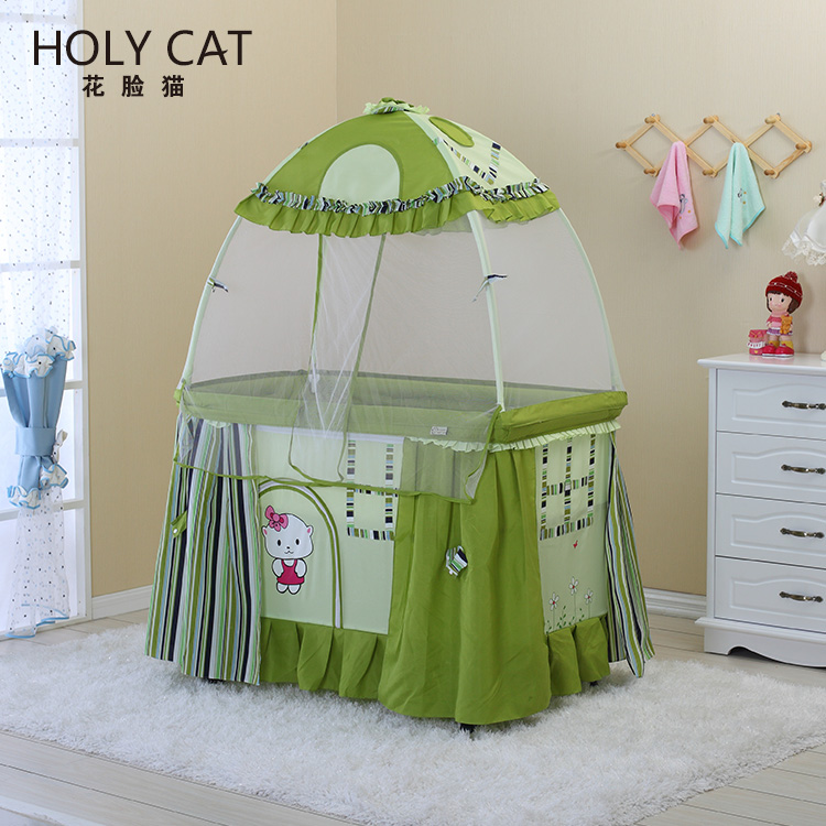 Good baby cribs, baby playpen,fashionable baby cot with mosquito net DC-2015