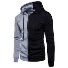 2019 Brand Sweatshirt Men Hoodies Autumn Spring streetwear Sweat Homme hood Men Patchwork Hoodies Sweatshirt Jacket Pullovers