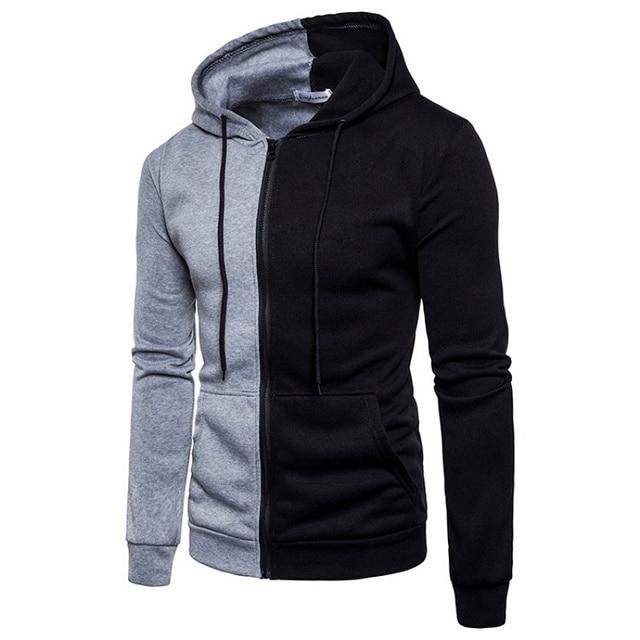2020 Brand Sweatshirt Men Hoodies Autumn Spring streetwear Sweat Homme hood Men Patchwork Hoodies Sweatshirt Jacket Pullovers 3