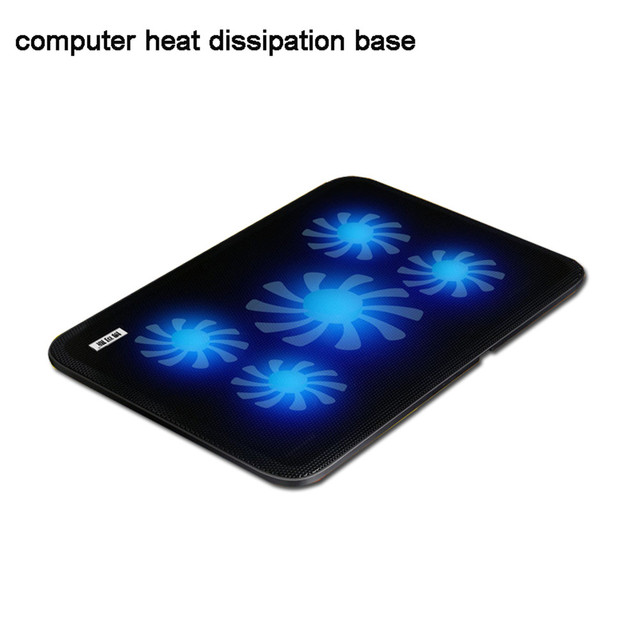 USB Notebook Cooler Cooling laptop cooler Pad 5 Fans for Laptop PC Base Computer Cooling Pad Strengthen Edition