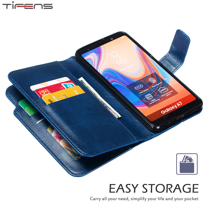 Wallet A90 A80 A70 A60 A50 S A40 A30 A20 E <font><b>Flip</b></font> Cover Leather <font><b>Case</b></font> For <font><b>Samsung</b></font> <font><b>Galaxy</b></font> A5 A7 2017 <font><b>A6</b></font> A8 Plus <font><b>2018</b></font> Phone Coque Bag image