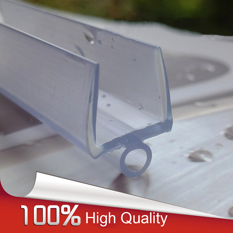 Me 307A Bath Shower Screen Rubber Big Seals Waterproof Glass Protection  Strips Glass Door Seals Length:700mm