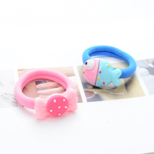 5pcs Cartoon Candy Color Elastic Hair Ties Ropes Hair Holder for Baby Girls' Sweet Hair Accessories