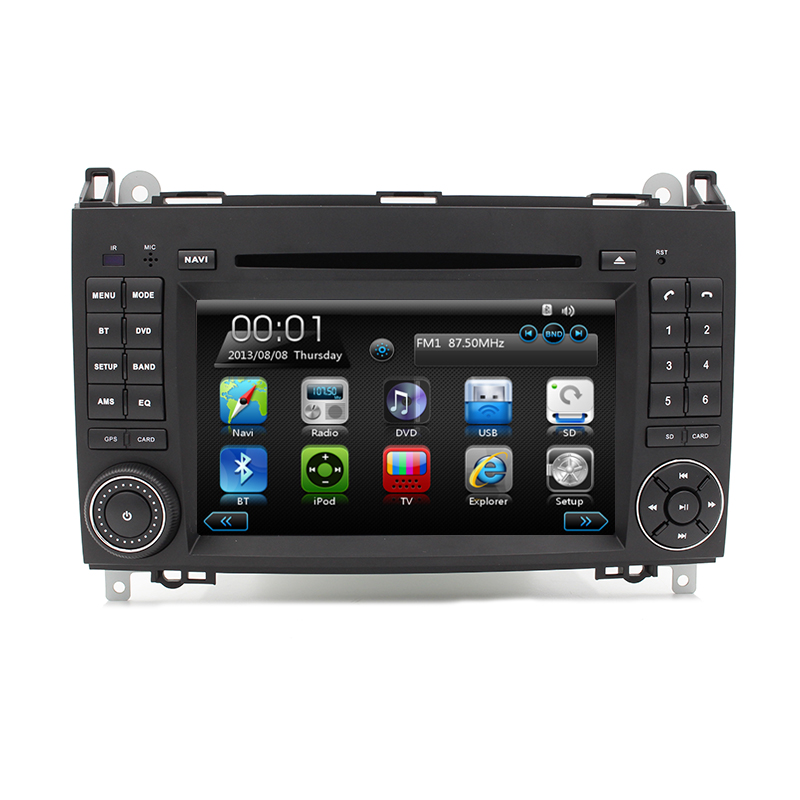 Free Shipping Car DVD Player Autoradio GPS Navigation for Mercedes A Class B Class with Ipod