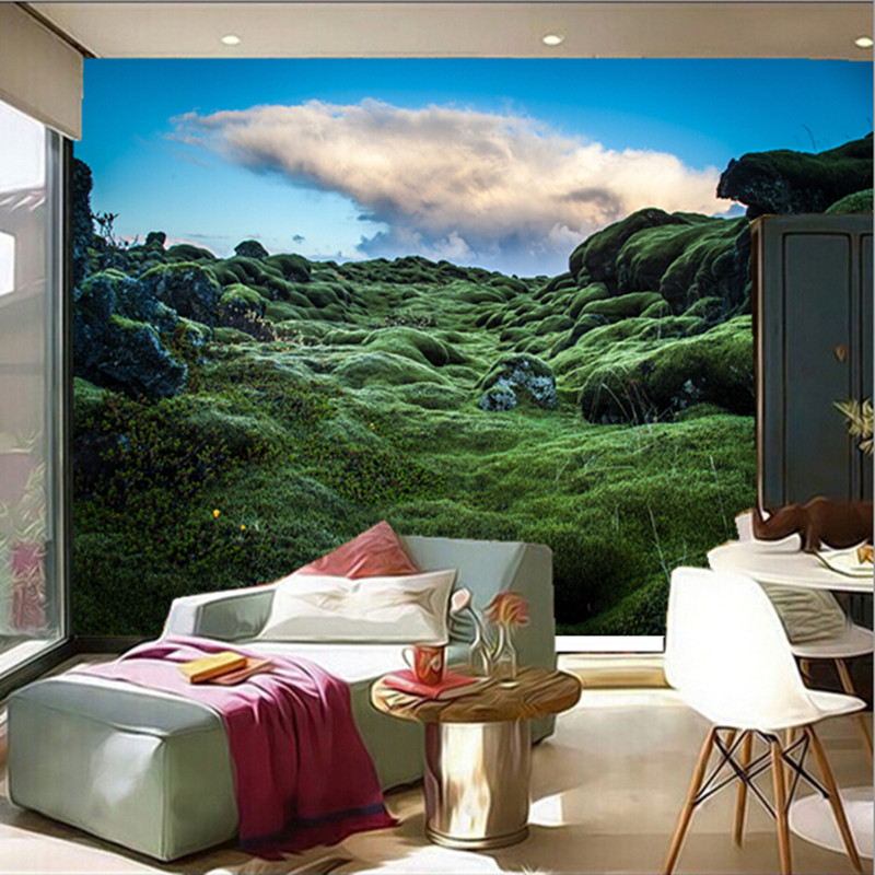 The Latest 3D Murals, Papel De Parede Ireland Moss Nature Wallpapers, Living  Room TV Wall Bedroom Wall Of Wall Paper In Wallpapers From Home Improvement  On ... Part 72