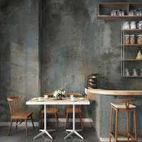 Papel pintado PVC 3D Retro cemento gris restaurante café Papel De pared sala De estar impermeable Color liso Vintage Papel De pared Decoración
