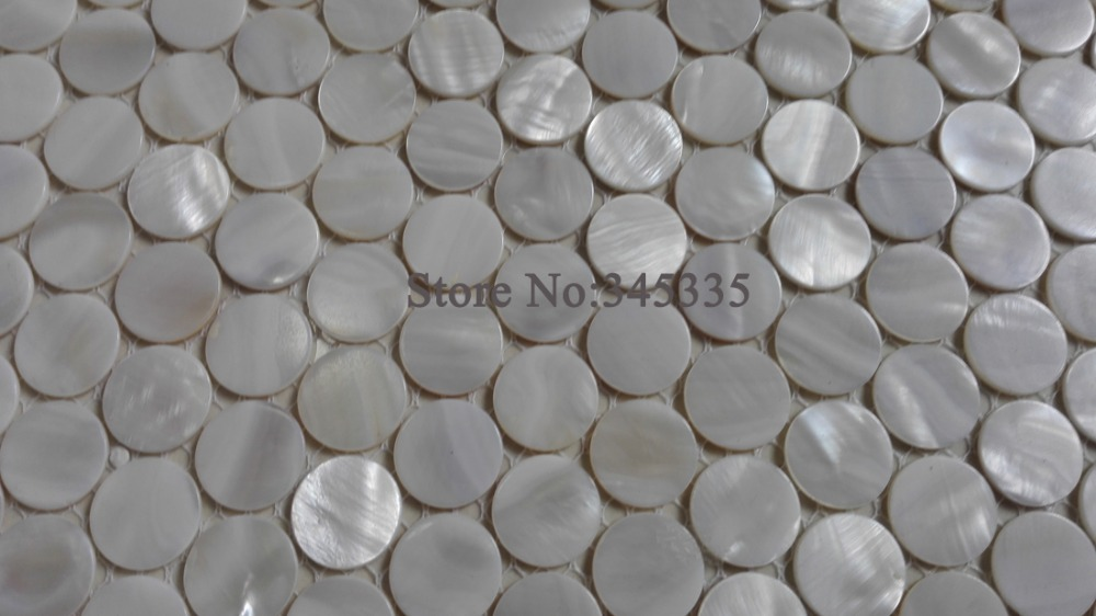 Penny Tiles Badkamer : 11 stks wit penny ronde shell mozaïek parelmoer tegel decoratie muur