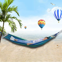 1/1.5m Double Hammock Portable Travel Camping Hanging Hammock Swing Lazy Chair Canvas Hammocks