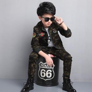 Image 2 - Male child clothing autumn set camouflage cotton 100% 2020 sports sets child spring boy long sleeve + pants 2pcs