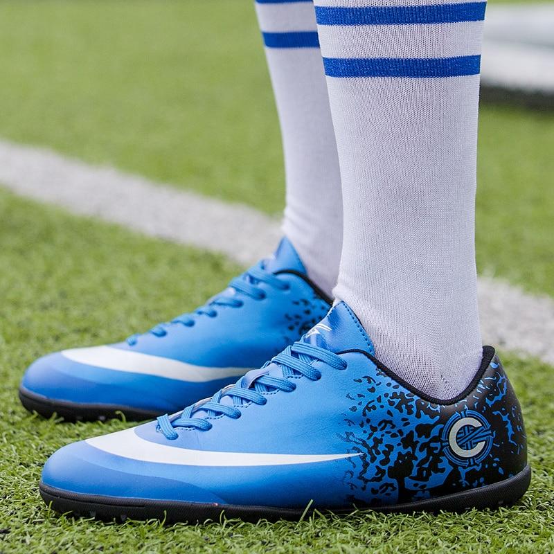2018 Jungen Rasen Fußball Schuhe Tf Fußball Schuhe Für Kinder Turnschuhe Kinder Outdoor-sport-training Schuhe Für Studenten Jugendliche Tropf-Trocken