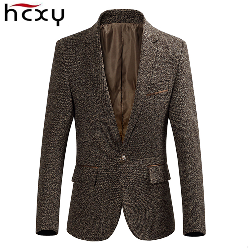 HCXY 2019 Autumn Winter New Business Men's Blazer Men Casual Suit Jackets High Quality Men Formal Jacket Coat Popular Design