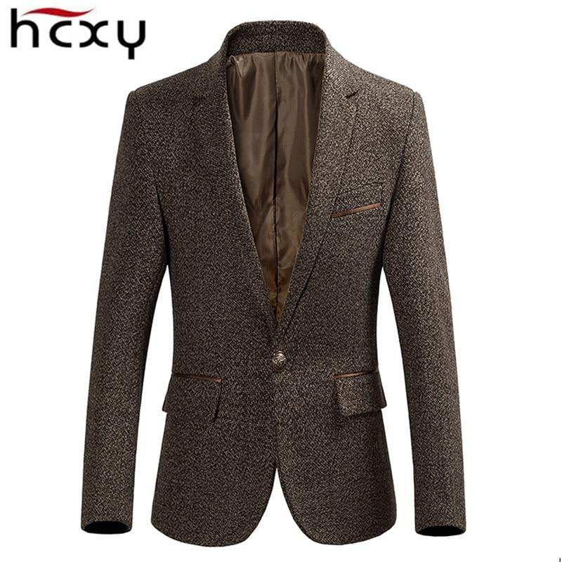 HCXY 2019 Autumn Winter New Business Men's Blazer Men Casual Suit Jackets High quality Men Formal Jacket Coat Popular Design