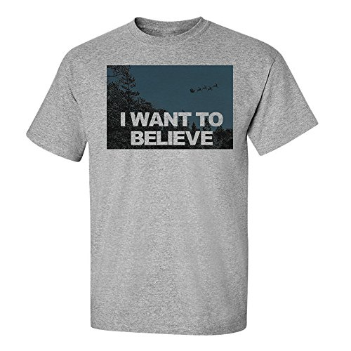 font b Custom b font Fit Graphic Tees Santa Claus I Want To Believe Short