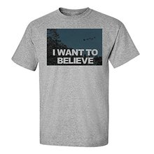 Custom-Fit Graphic Tees Santa Claus – I Want To Believe Short Sleeve T-Shirt Crew Custom Made T Shirts