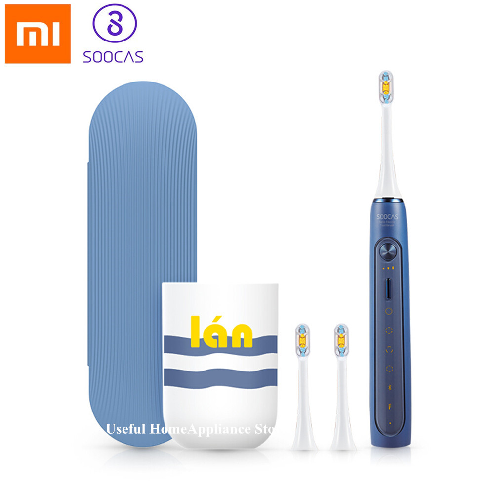 Xiaomi Soocas X5 Waterproof Electric Toothbrush USB Whitening Ultrasonic Automatic Wireless Charging Tooth Brush 3 Brush HeadXiaomi Soocas X5 Waterproof Electric Toothbrush USB Whitening Ultrasonic Automatic Wireless Charging Tooth Brush 3 Brush Head