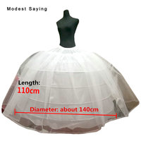 High Quality 6 Hoops Petticoats Underskirt For Big Ball Gown Wedding Dresses 2018 Bridal Gowns Wedding Accessory Crinoline jupon