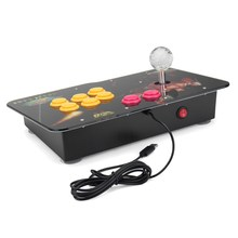 Arcade Stick Video Game With LED Light USB Joystick Controller Rocker For PC Phone Game Controller Play Street Fighting