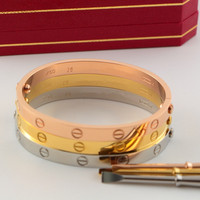 Classic Fifth Brand Fashion Carter Love Bracelet Bangles For Women Men Titanium Steel Lover S Wedding