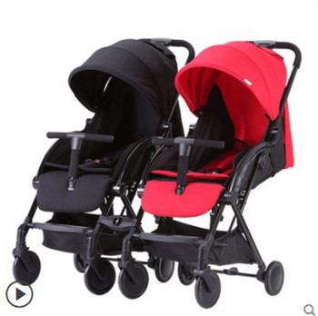 цена European twins baby stroller ultra light portable can sit reclining folding dragon and phoenix baby stroller baby stroller онлайн в 2017 году