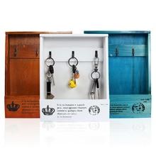Handmade Boxes Cargo Organizer Storage Box Simple Small Key Hanging Case Phone Wood Shelf Rack Home Decoration